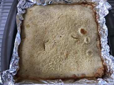 After baking :-) It kind of looks like the surface of Mars